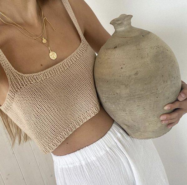 Tencel knit top -02