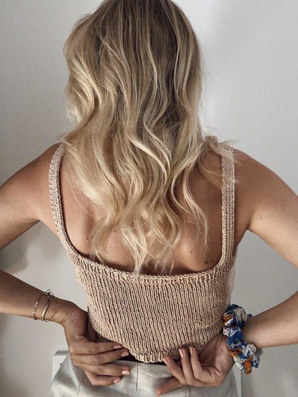 Tencel knit top -01